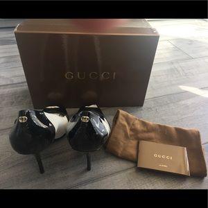 New Gucci Peep Toe Heels